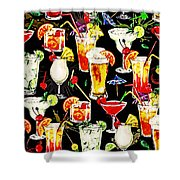 Cocktail Hour In The Tropics Shower Curtain