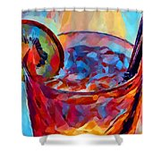 Cocktail Watercolor Shower Curtain