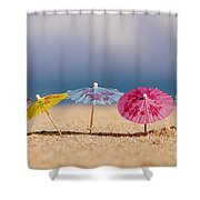 Cocktails In The Sand Shower Curtain