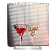 Cocktails With Strainer Shower Curtain