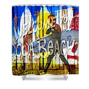 A Cocoa Beach Welcome Shower Curtain