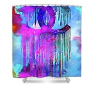 Coco Chanel Liquidated Logo Colorful Shower Curtain