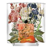 Coco Mademoiselle Notes Shower Curtain