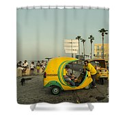 Coco Taxi's  Shower Curtain