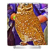 Coco The Burrowing Owl In Living Desert Zoo And Gardens In Palm Desert-california Shower Curtain