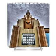 Cocoa Art Deco-1 Cr Shower Curtain