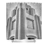 Cocoa Art Deco-2 Bw Shower Curtain