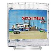 Cocoa Beach/cape Canaveral Pier Shower Curtain