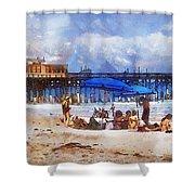 Cocoa Beach Pier Shower Curtain