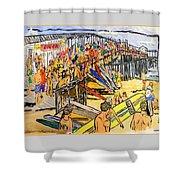 Cocoa Beach Pier/surf Festavil Shower Curtain