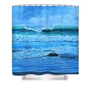 Cocoa Beach Surf Shower Curtain