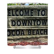 Cocoa Beach Welcome Sign Shower Curtain