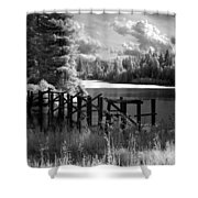 Cocolala Creek Slough 2 Shower Curtain