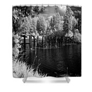 Cocolala Creek Slough Shower Curtain