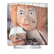 Coconut Family Shower Curtain