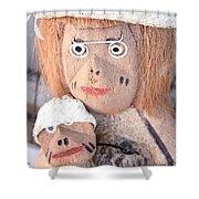 Coconut Family Shower Curtain