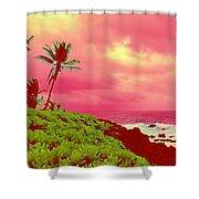 Coconut Palm Makai For Pele Shower Curtain