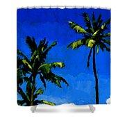 Coconut Palms 5 Shower Curtain