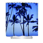 Coconut Palms At Dawn Shower Curtain