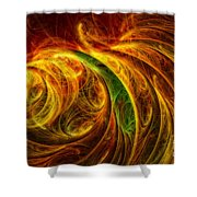 Cocoon Of Glowing Spirits Abstract Shower Curtain