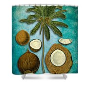 Cocos Nucifera Shower Curtain