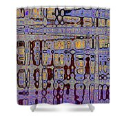 Code Abstract Shower Curtain