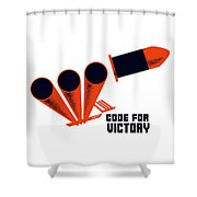 Code For Victory - Ww2 Shower Curtain