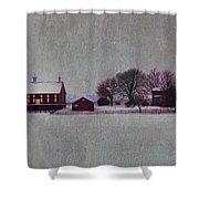 Codori Farm At Gettysburg In The Snow Shower Curtain