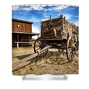 Cody Wagon Train Shower Curtain