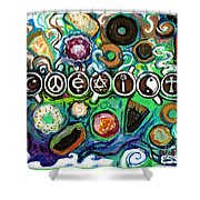 Coexisting With Coffee And Donuts Shower Curtain