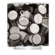 Coffe Cups 2 Shower Curtain