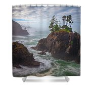 Coffee Along The Coast Shower Curtain