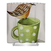 Coffee And A Friend Shower Curtain