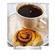 Coffee And Breakfast Roll Shower Curtain