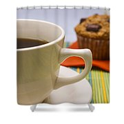 Coffee And Chocolate Muffin Shower Curtain