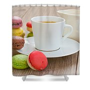 Coffee  And Macaroons Shower Curtain