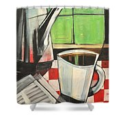 Coffee And Morning News Shower Curtain