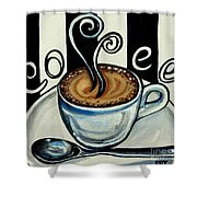Coffee At The Cafe Shower Curtain