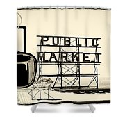 Coffee At The Market II Shower Curtain