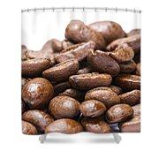 Coffee Beans Closeup Shower Curtain