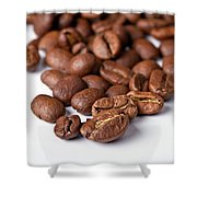Coffee Beans Shower Curtain by Gert Lavsen