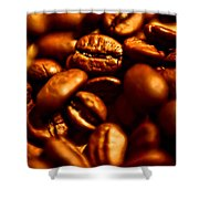 Coffee  Beans- Gold Shower Curtain