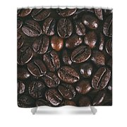 Coffee Beans Texture Shower Curtain
