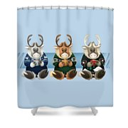 Coffee Bou - The Gang's All Here Shower Curtain