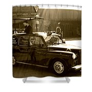 Coffee Cab Shower Curtain