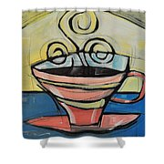 Coffee Cup Four Shower Curtain