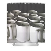 Coffee Cups- By Linda Woods Shower Curtain