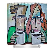 Coffee Date Shower Curtain