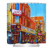 Coffee Depot Cafe And Terrace Shower Curtain