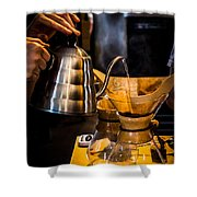 Coffee First Shower Curtain